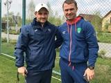 Ребров посетил тренировку «Олимпика» (ФОТО)