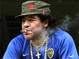 Марадона провел тренировку с сигарой во рту