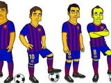 Игроки «Барселоны» представлены в образах героев «Симпсонов»