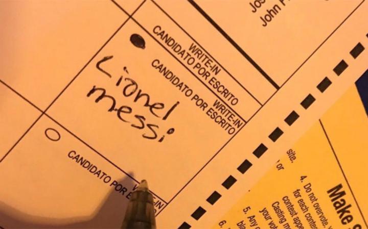 ВСША один изизбирателей проголосовал заМесси навыборах президента