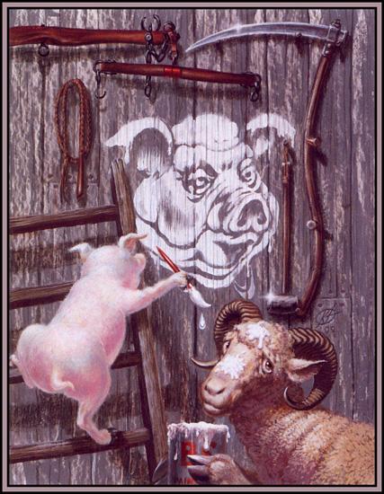 Свинье поставили памятник