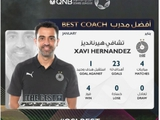 Хави признан лучшим тренером месяца в Катаре