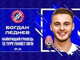 УПЛ назвала Богдана Леднева лучшим игроком 12-го тура чемпионата Украины