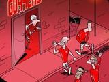 Карикатура на матч «Бавария» — «Арсенал»