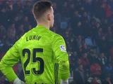 Лунин заработал очень спорный пенальти в матче «Овьедо» — «Алькоркон» (ВИДЕО)