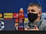 Сергей Ребров: «Для нас главное — не бояться играть с именитыми соперниками калибра «Ювентуса»