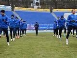 «Агробизнес» перед кубковым матчем с «Шахтером» потренировался на стадионе «Динамо»