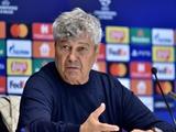 «Динамо» — «Бенфика» — 0:0. Послематчевая пресс-конференция. Луческу: «Результат считаю позитивным»