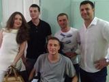 Сергей Ребров проведал солдат АТО в госпитале (ФОТО)