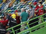 Болельщик «Спортинга» упал со второго яруса стадиона (ФОТО)