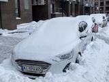 Карлосу де Пене пришлось откапывать свою машину из сугроба (ФОТО)