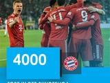 «Бавария» — первая команда чемпионата Германии, забившая 4000 голов