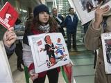 Палестинцы пикетировали УЕФА