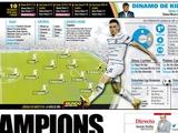 Mundo Deportivo поставила на левый фланг «Динамо» Кендзеру и легко «решила» возникшую проблему правого