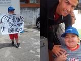 Роналду остановил автобус сборной Португалии ради 11-летнего мальчика. Он стоял с плакатом «Криштиану, обними меня»