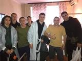 Футболісти Динамо провідали наших воїнів в госпіталі