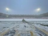 В Нидерландах прервали матч из-за снегопада