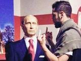 Грузинский футболист продемонстрировал неприличный жест перед фигурой Путина (ФОТО)