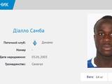 «Динамо» заявило на чемпионат Украины сенегальского полузащитника