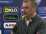 Александр Хацкевич: «Я сказал ребятам: выше головы, мы будем бороться до конца!»