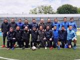 Артем Беседин тренируется со сборной Украины среди ветеранов