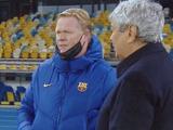 О чем говорили Мирча Луческу и Рональд Куман перед матчем «Динамо» — «Барселона»