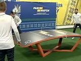 ВИДЕО: игроки сборной Украины сыграли в настольный теннисбол