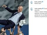 Лунин отреагировал на уход Зидана из «Реала». На испанском языке (ФОТО)