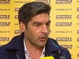 Паулу Фонсека: «Можно было победить, мы доминировали в игре»
