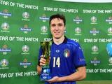 Федерико Кьеза — лучший игрок матча Италия — Уэльс