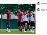 Ибрагимович опубликовал своё фото с тренировки «Милана» и подписал его: «Бог и его ученики» (ФОТО)