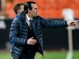 Унаи Эмери: «Надеюсь, в Лиге Европы «Вильярреал» проявит себя лучше, чем в последнее время в чемпионате»