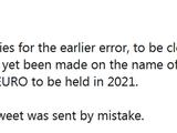 УЕФА извинился за преждевременную новость о названии Евро-2020