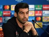 Паулу Фонсека: «Надеюсь, наша тактика в матче с «Манчестер Сити» сработает...»