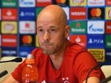 Тен Хааг: «Аякс» намерен выиграть Лигу чемпионов»