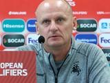 Тренер соперника сборной Украины: «Мы будем бороться, а не капитулировать заранее»