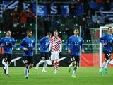 Домагой Вида в матче с Эстонией