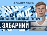 Илья Забарный — лучший игрок 23-го тура по версии УПЛ