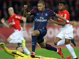 Мбаппе в матче с «Монако» разогнался до 38 км/ч