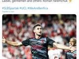 «Бенфика» после победы над «Спартаком» переименовала «Твиттер» в честь Яремчука (ФОТО)