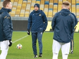 ФОТОрепортаж: тренировка сборной Украины на «Олимпийском» за день до матча с Эстонией
