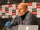 Пресс-конференция. Столе Сольбаккен: «Мы не уверены в победе над «Динамо». Это по-прежнему фаворит нашей группы»