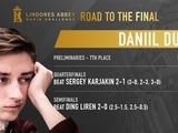Дубов сравнял счет, выиграв второй матч в финале онлайн-турнира по быстрым шахматaм.