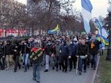 Фанаты «Днепра» и «Севастополя» прошли маршем по Днепропетровску