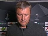 Александр Хацкевич: «Заслужили эту победу!»