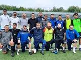 Хацкевич, Шацких, Хачериди приняли участие в тренировке сборной Украины среди ветеранов (ФОТО)