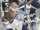 Сон Хын Мин — лучший игрок АПЛ в октябре (ФОТО)