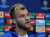 Андрей ЯРМОЛЕНКО: «Обязаны набирать не меньше четырех очков в двух матчах с «Бенфикой»