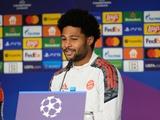 Пресс-конференция. Серж Гнабри: «Бавария» ставит перед собой высокие цели, хотим выиграть Лигу чемпионов»