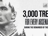 За каждую победу «Арсенала» Бельерин оплатит посадку 3 тысяч деревьев